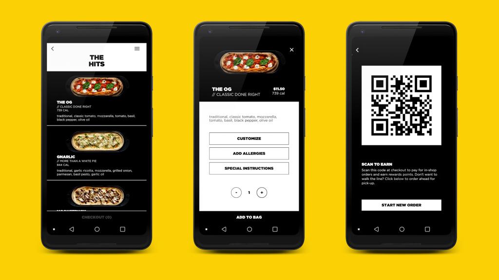 &pizza app design