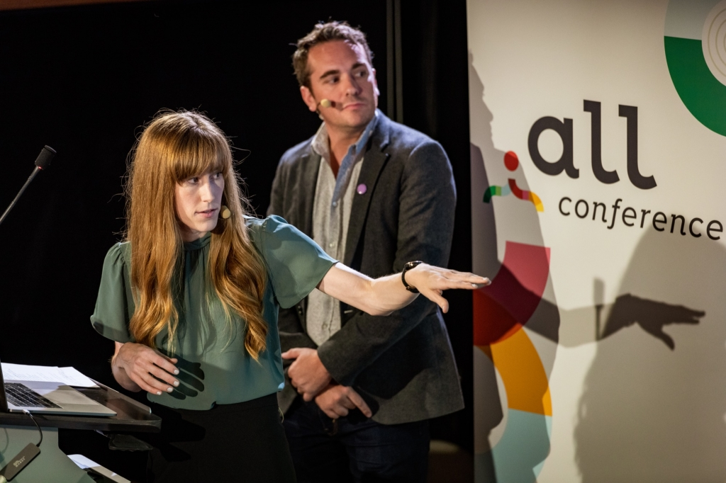 Allyssa and Nick presenting at Dot All